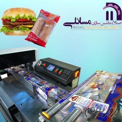 دستگاه بسته بندی همبرگر، ساندویچ ، نان