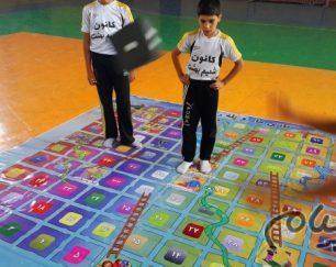 بازی مار و پله (راه بهشت) بنر 9 متری