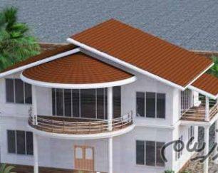 طراحی و اجرای سقف شیبدار ویلا، پوشش سقف ویلا