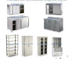 انواع مختلف قفسه و کمد اتاق عمل