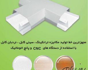 ترانکینگ داکت منشوری گوشه داخلی بستی رنگ الکترواستاتیک