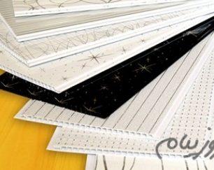 پانل PVC ساده, پانل PVC روکشدار,هات استمپ