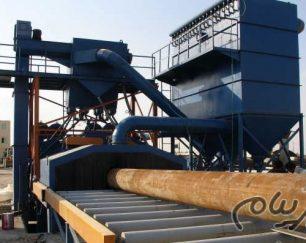 شات بلاست تونلی برای ورق و مقاطع مدل SPS-3000 (Shot blast Machine)
