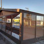 ایستگاه اتوبوس چوب پلاست