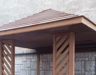 آلاچیق چوب پلاست آبنوس وود